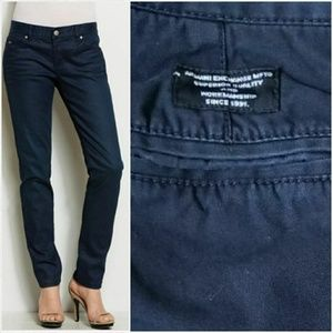 {AX} dark blue straight leg jeans